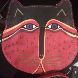 Laurel Burch Feline Face Crossbody Bag
